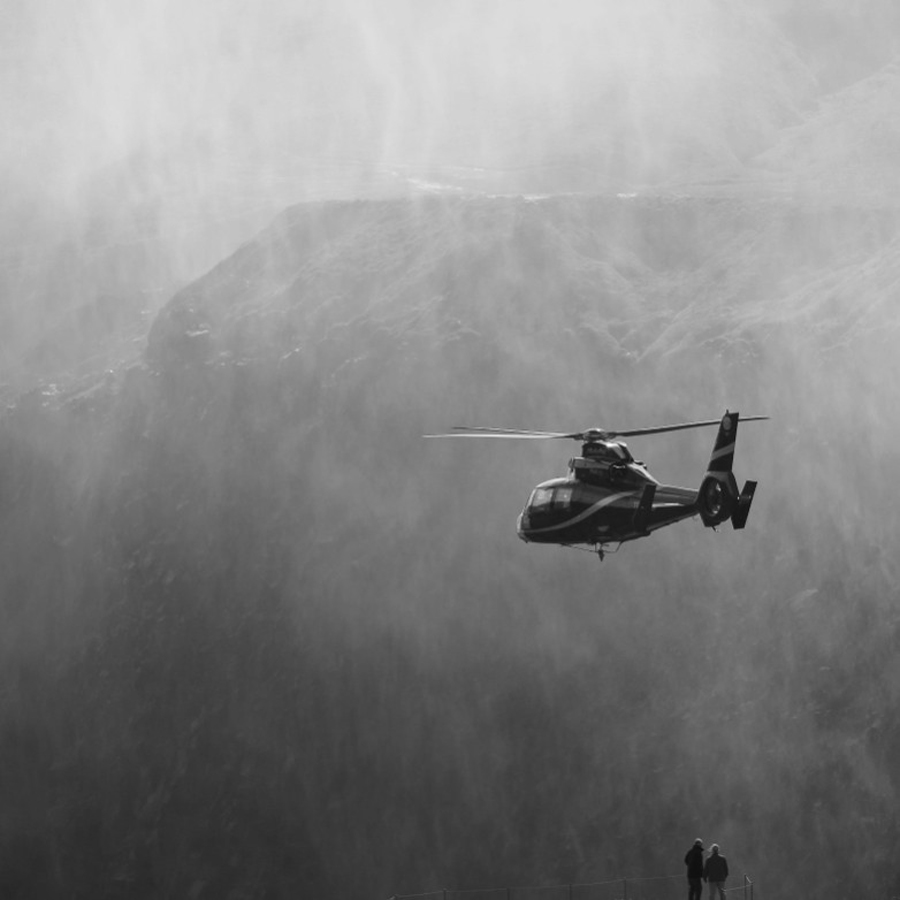 Iceland | Dettifoss | Ridley Scott's 'Prometheus' by Didier Dragonetti - Transportation Other ( helicopter, iceland, black and white, prometheus, waterfall, dettifoss, movie, landscape, ridley scott )