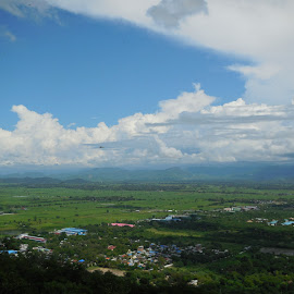 Cloudy And Green by Ko Ye - Landscapes Travel ( clouds, hills, green, travel, landscape )