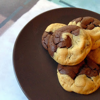 Chocolate Peanut Butter Swirl Cookies