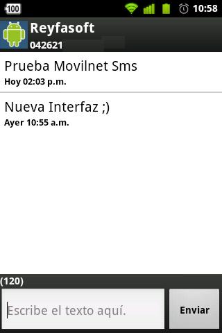 Movilnet Sms screenshot 2