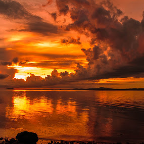 Stunning Cloud by Christianto Mogolid - Landscapes Cloud Formations ( sunset, stunning cloud formation, beautiful sunset, cloud, golden )