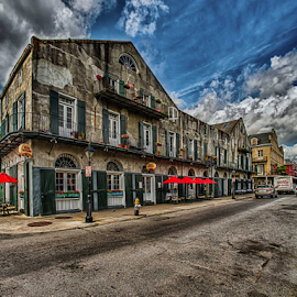 French Quarter 3 by Sheldon Anderson - City,  Street & Park  Street Scenes ( new orleans, french qtr, march, 2015, morning )