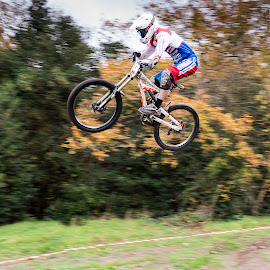 DH Jump by Nick Moor - Sports & Fitness Cycling ( downhill, dh, racing, mountain bike, pan )