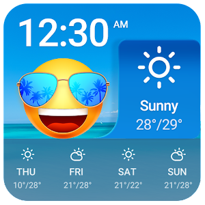 Personal Weather App with Emoji Face