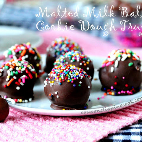 Malted Milk Ball Cookie Dough Truffles