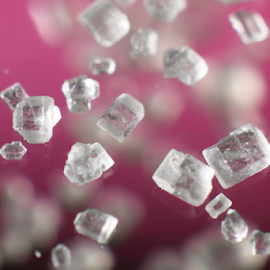 Granulated Sugar Macro by Skip Spurgeon - Abstract Macro ( granulated, macro, pink, sugar )
