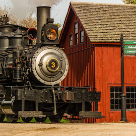 Off we go by Donna Sparks - Transportation Trains ( steam engine, greenfield village, historical )