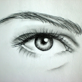 What Are You Hiding? by Natasha Rupert - Drawing All Drawing ( pencil, sketch, drawing, eye )