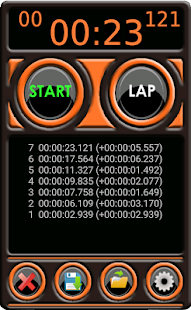 Stopwatch Pro Fitness app screenshot for Android