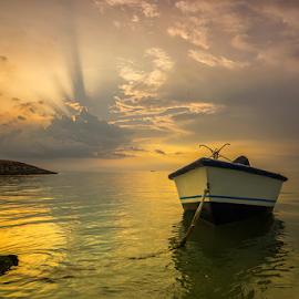 Morning at Mertasari by Ade Noverzan - Transportation Boats ( beach, sunrise, boat )