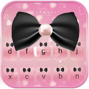 Download Pink Bow Keyboard Theme For PC Windows and Mac
