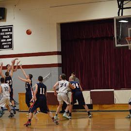 The Goal by Sarah Burroughs-McGehee - Sports & Fitness Basketball ( basketball, lyndeborough, high school, play, game, new hampshire )
