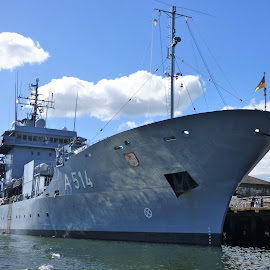 Naval ship, Cork City  by Edelle Bruton - Transportation Boats