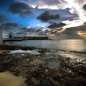 Sunset at Cozumel by Cristobal Garciaferro Rubio - Landscapes Travel ( caribbean sea, water, clouds, mexico, cozumel, sea )