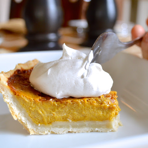 Classic Pumpkin Pie with Cinnamon Whipped Cream