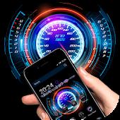 Neon Racing Car Hologram Tech