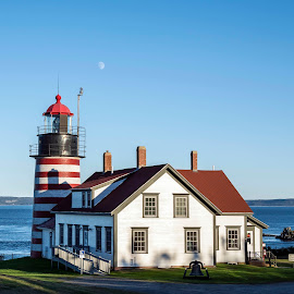 West Quoddy Head Lighthouse by Debora Garella - Buildings & Architecture Other Exteriors ( west quoddy head lighthouse, maine, west quoddy, lighthouse, lubec )
