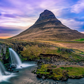 Kirkjufell mountain, snaefellsnes peninsula by Has Berkul - Landscapes Mountains & Hills ( iceland mountain landscape waterfall )
