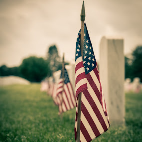 Last stand by Todd Wallarab - City,  Street & Park  Cemeteries ( flag, death, cemetery, will, grave, u.s. )