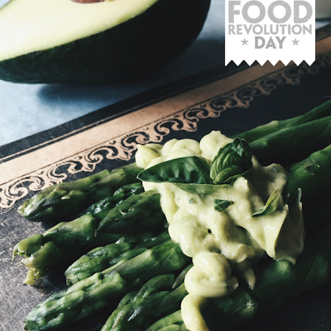 Spring Asparagus with Avocado Cream
