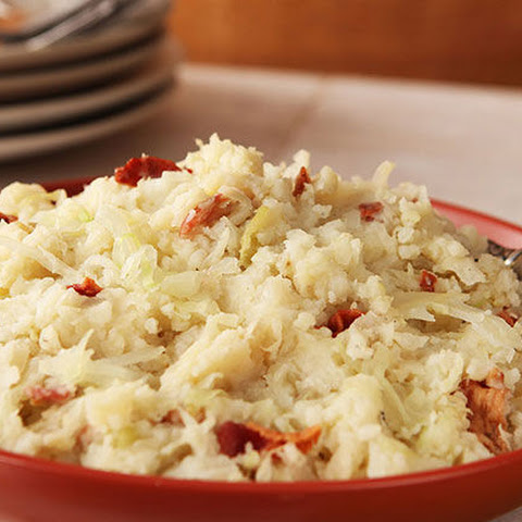 Irish Potatoes & Cabbage with Bacon (Colcannon)