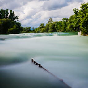 waterfall floods by Samet Işık - Landscapes Waterscapes