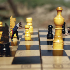 life is mere game of chess by Rishi Fx Artist - Artistic Objects Still Life ( photoshop art, tricky, editing, digital, photography, miniature )