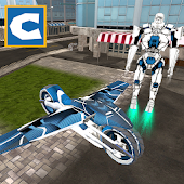 Flying Robot Bike Simulator APK for Bluestacks