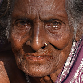 (Maybe) Eighty-six years old woman. by Marcel Cintalan - People Portraits of Women ( bangladesh, life, woman, old woman, people, portrait, eyes )