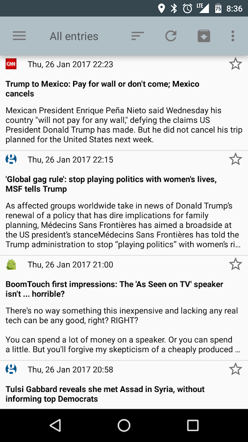 RSS Reader Screenshot 1