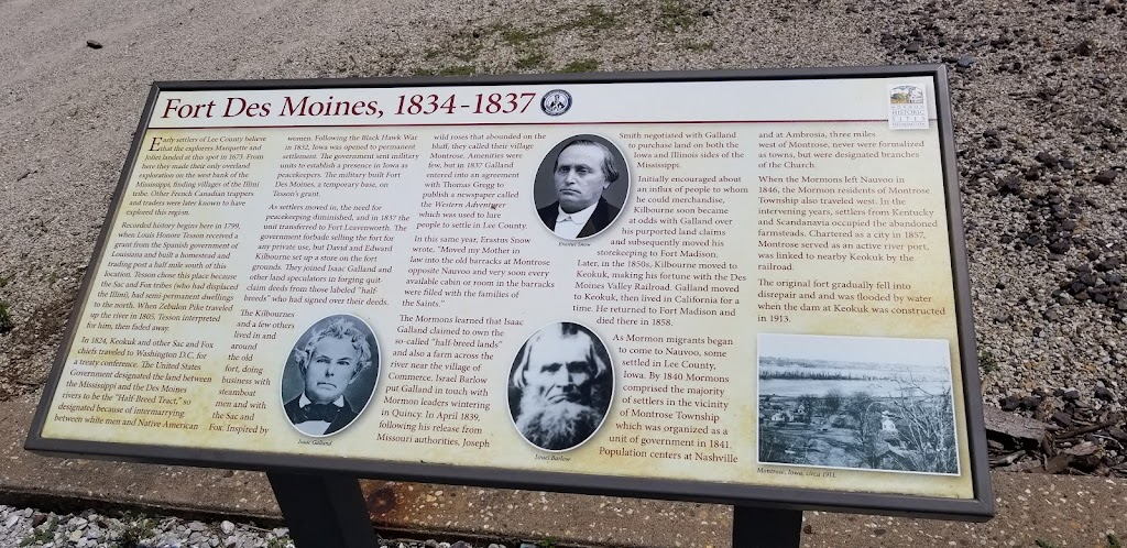 Early settlers of Lee County believe that the explorers Marquette and Joliet landed at this spot in 1673. From here they made their only overland exploration on the west bank of the Mississippi, ...