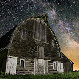 Barn VI by Aaron Groen - Buildings & Architecture Homes ( barn series, stars, milky way )