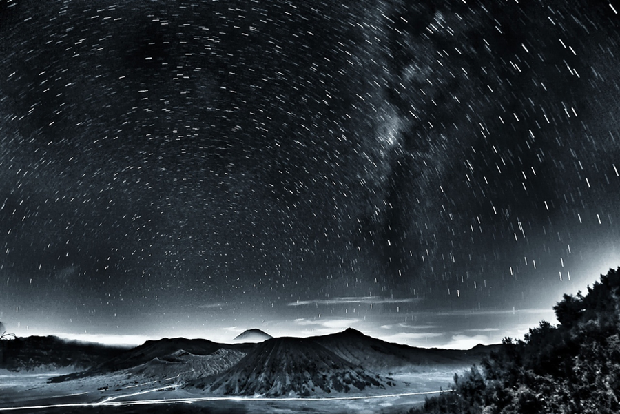 stars rain in bromo by Sapto Nugroho - Landscapes Mountains & Hills