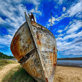 The Grounded boat by Craig Turner - Transportation Boats ( abstract, out of water, boat,  )