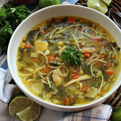 Soup-e Morgh o Sabzijat - Maman's Feel-Good Chicken Vegetable Soup