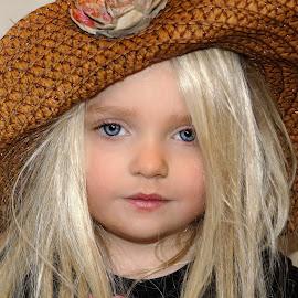 Straw Hat by Cheryl Korotky - Babies & Children Child Portraits
