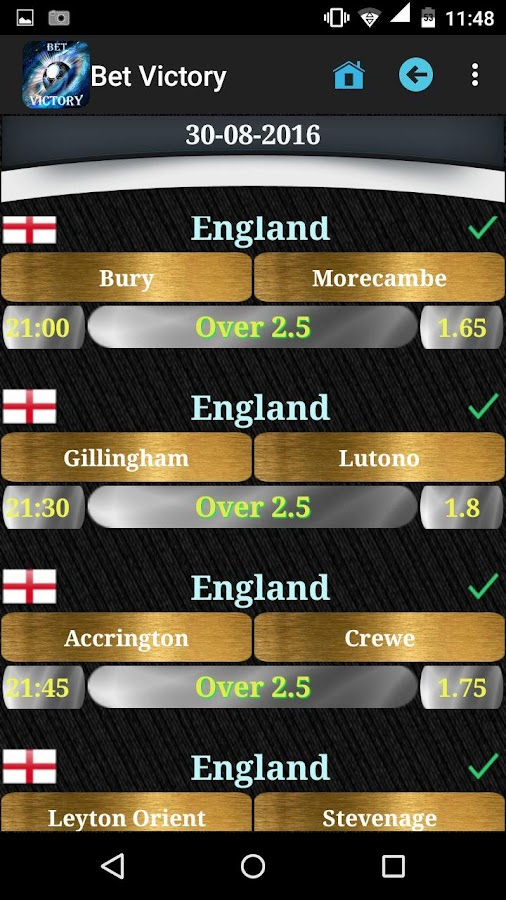 Bet Victory - Betting Tips Screenshot 1