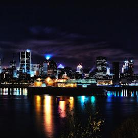 Montreal Night by Alain Ranger - City,  Street & Park  Night ( canon, montreal, summer, night )