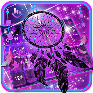 Purple Galaxy Dream Catcher Keyboard Theme
