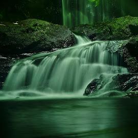 A hidden gem by Nik Hall - Abstract Water Drops & Splashes ( waterfalls, longexposure, reflections, underground, waterfall, long exposure, county cork, ireland )