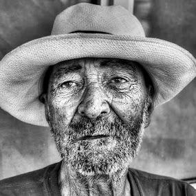 Nameless by Edin Chavez - People Portraits of Men ( headshot, b&w, monochrome, homeless, portrait )