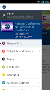 NCCHC Events - screenshot