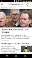 Screenshot of Berner Zeitung