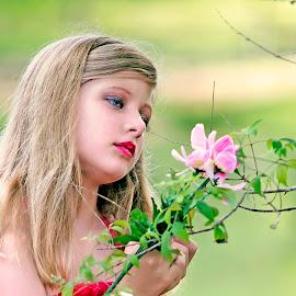 Pink Flower by Sylvester Fourroux - Babies & Children Child Portraits