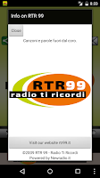 Screenshot of RTR 99 – Radio Ti Ricordi