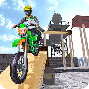 Offroad Moto Trial Racing Icon