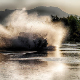 Splash  by Abdul Rehman - Sports & Fitness Motorsports ( rally, pakistan, thrilling, jhelum, river,  )