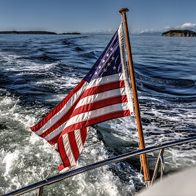 Boat Flag by Dennis McClintock - Artistic Objects Other Objects ( flag, us flag, anykind of flag contest,  )
