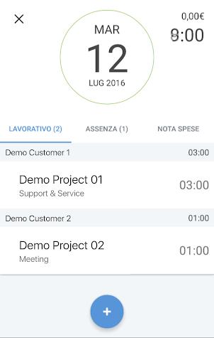 Tempi & Spese Mobile Screenshot