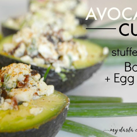 Avocado Cups Stuffed with Bacon & Egg Salad